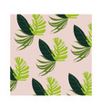 leafs plants tropical pattern background vector image vector image