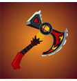 magic antique battle axe viking weapon cartoon vector image