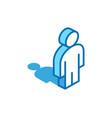 man isometric icon user human 3d line symbol vector image
