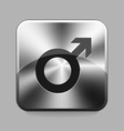 Metallic buton vector image vector image