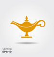 middle east oil lamp flat icon vector image