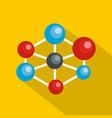 molecular lattice icon flat style vector image vector image