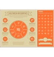 Multimedia Line Design Infographic Template vector image vector image
