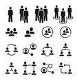 network group icons social community business vector image vector image