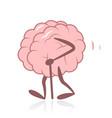 old brain walking vector image