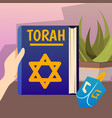 pentateuch book background composition vector image