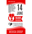 poster for world donor day blood donation vector image vector image