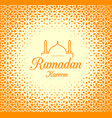 ramadan kareem congratulations on holiday vector image