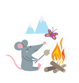 rat in camp vector image vector image