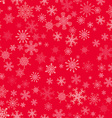 Red seamless Christmas pattern with different vector image