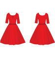red women elegant dress vector image