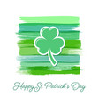 saint patrick day greeting card or poster vector image