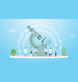 science experiment research concept with big vector image