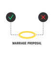 selection like marriage proposal vector image vector image