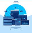 server data center flat internet vector image vector image