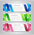 set design ribbon banner template vector image vector image