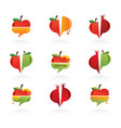 set of abstract icons for Rosh Hashanah Jewish vector image vector image