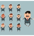 Set of business men3 vector image vector image