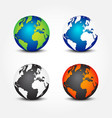 set of global in different color 4 seasons vector image vector image