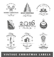 Set of vintage Christmas labels vector image