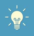 silhouette light bulb on blue background vector image