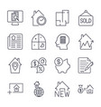simple set real estate related line vector image vector image
