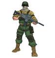 soldier on patrol vector image vector image