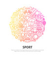 sport circle concept vector image vector image