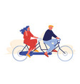 summer time outdoors activity biking spare time vector image