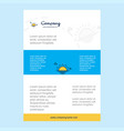 template layout for sunset comany profile annual vector image
