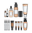 types of foundations vector image vector image