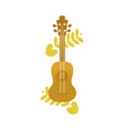 ukulele acoustic guitar abstract floral a vector image