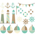 Vintage Nautical vector image vector image