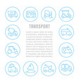 website banner and landing page transport vector image