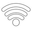 wifi signal icon in monochrome silhouette vector image vector image