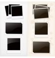 Empty photo frames vector image