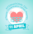 11April International Day of Fascist Concentration vector image vector image