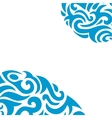 abstract background in tribal style vector image