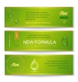 Aloe vera horizontal banners set with drops vector image vector image