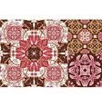 Art vintage set of damask pattern vector image