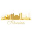 asuncion city skyline golden silhouette