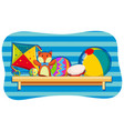 background design with toys on shelf vector image vector image