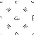 big cloud pattern seamless black vector image vector image