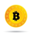 Bitcoin icon Cryptography currency P2P vector image