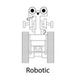black-and-white of the robot vector image vector image