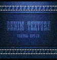 blue denim texture background eps 10 vector image vector image