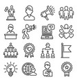 brand ambassador and influencer icons set line vector image vector image