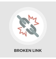 Broken connection flat single icon vector image vector image