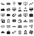 business game icons set simple style vector image vector image