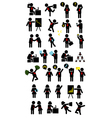 business pictograph icons vector image